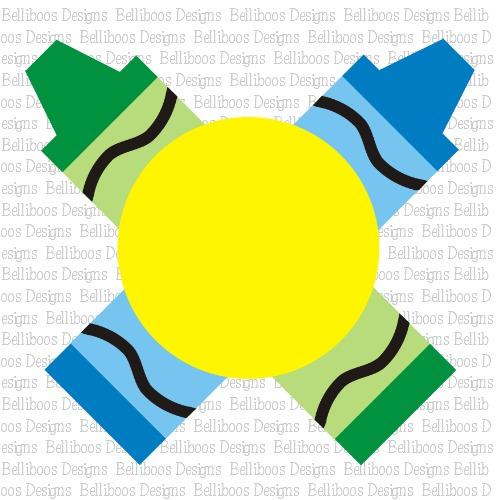 Belliboos Crayon Monogram Svg