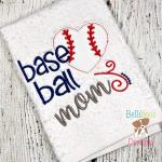 Baseball Mom Embroidery Design Saying 2
